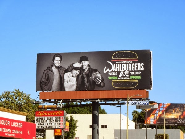 Wahlburgers series launch billboard