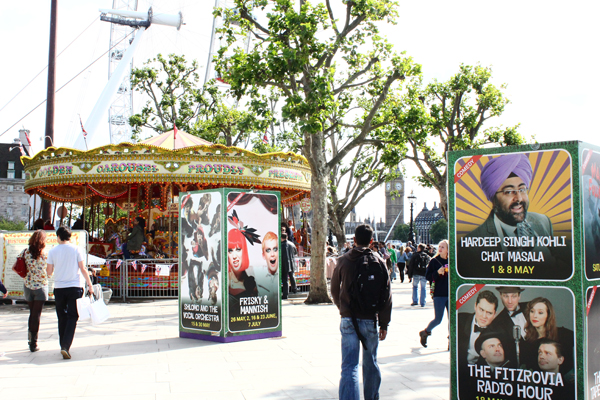 holiday in London at Queens Walk Southbank