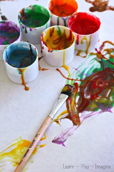 Homemade EDIBLE paint recipe safe for babies and toddlers