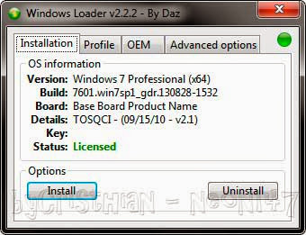 Activar Windows 7 (Loader v2.2.2) (32-64bits) (2014)