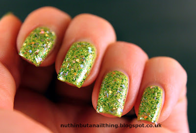 lush lacquer salsa verde swatch