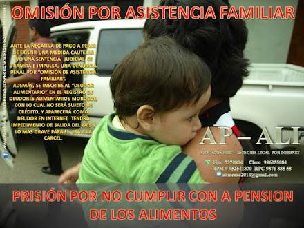 OMISIÓN A LA ASISTENCIA FAMILIAR, CONSECUENCIAS LEGALES, PROCESO INMEDIATO POR FLAGRANCIA.