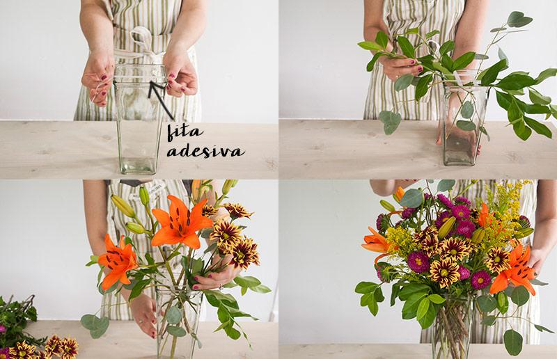 Como montar um vaso de flores perfeito, tutorial