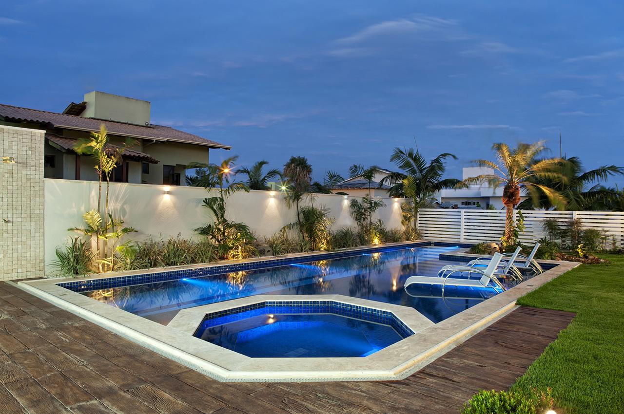 Jardins e piscinas residenciais v rias - Piscinas de jardin ...
