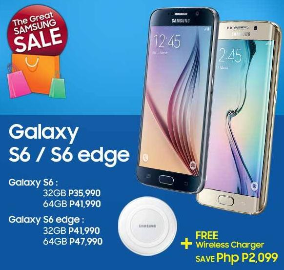 samsung galaxy s6 edge price list. get the samsung galaxy s6 and edge with free wireless charger until july 31, 2015. edge price list
