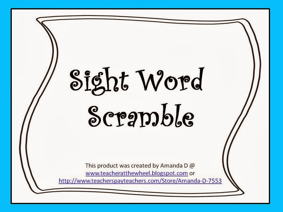 http://www.teacherspayteachers.com/Product/Sight-Words-Scramble-1110980