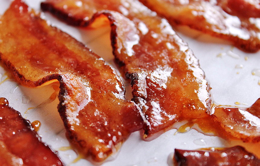 maple glazed candy bacon