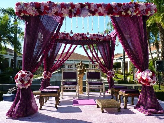 Ideas for outdoor mandaps asian wedding ideas for Asian wedding decoration ideas