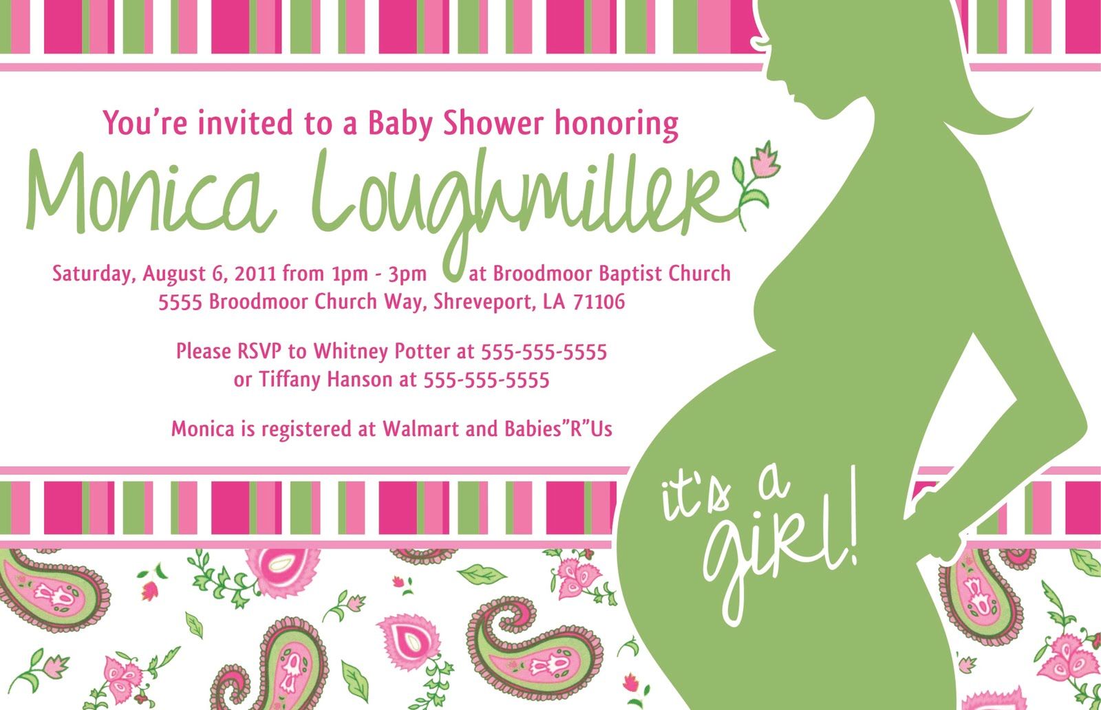 Most Information Has Been Changed On Invitation.  Baby Shower Invitation Template Microsoft Word