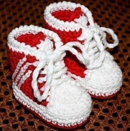 Basketball Shoes - Free Crochet Diagram