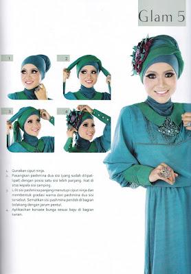 Cara Memakai Hijab Glamour