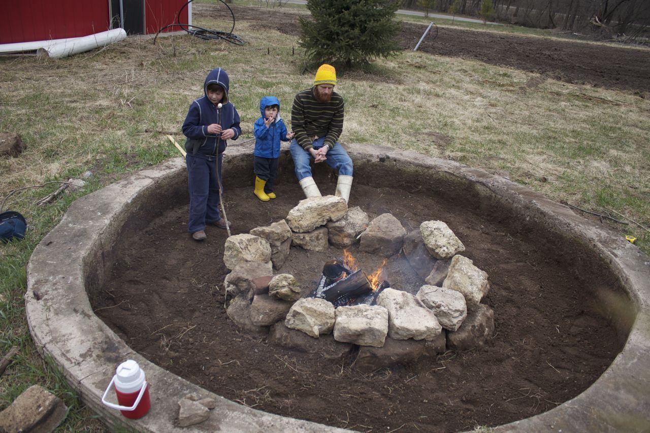 Garden Of Dreams Silo Foundation Sunken Firepit