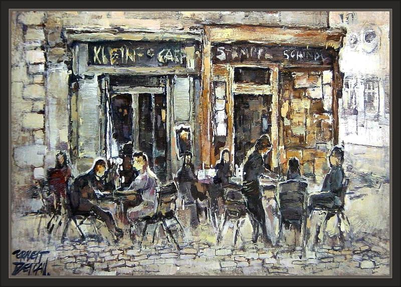 VIENA-CAFE-PINTURA-CAFETERIAS-AUSTRIA-PINTOR-ERNEST DESCALS-