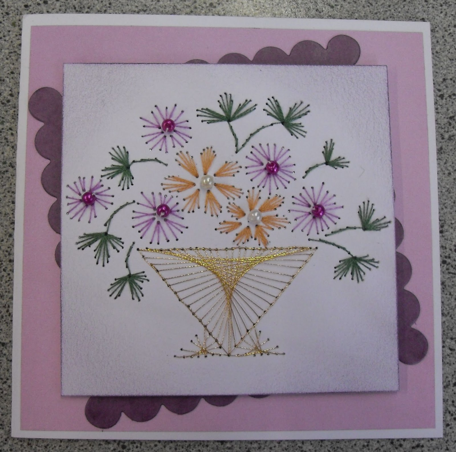 Stitching+Cards Card Crafts: 2 more Prick and Stitch cards