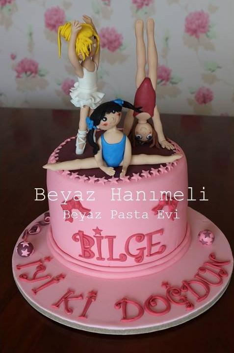 Jimnastikçi kız pastası