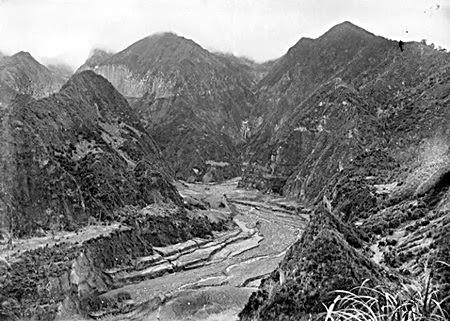 Aliran lahar Gunung Kelud tahun 1919.