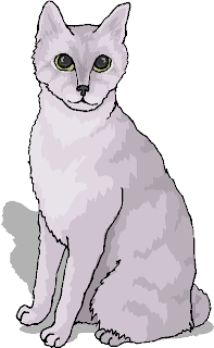 White Cat Sitting Alone Free Animal Clipart