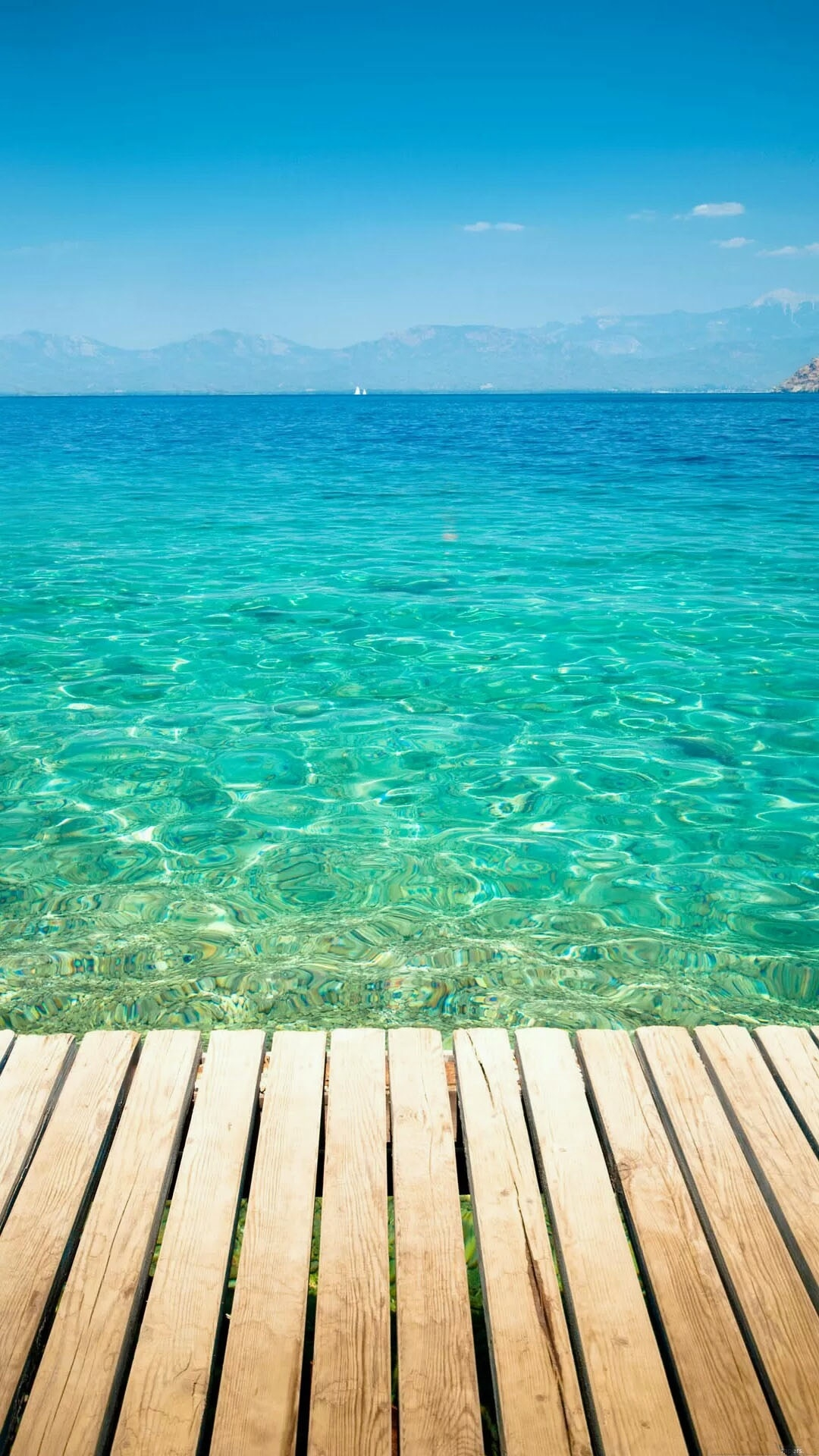 click here to download 1080x1920 pixel wooden dock transparent sea water android best wallpaper