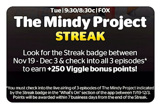 The Mindy Project Streak, Viggle Bonus, Viggle, ViggleMom