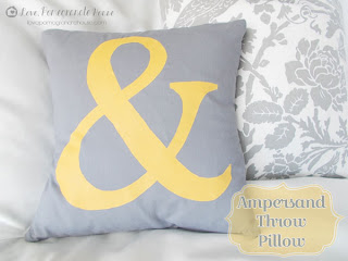 Ampersand Throw Pillow from Love Pomegranate House