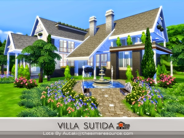 casa moderna villa sutida the sims 4 pirralho do game