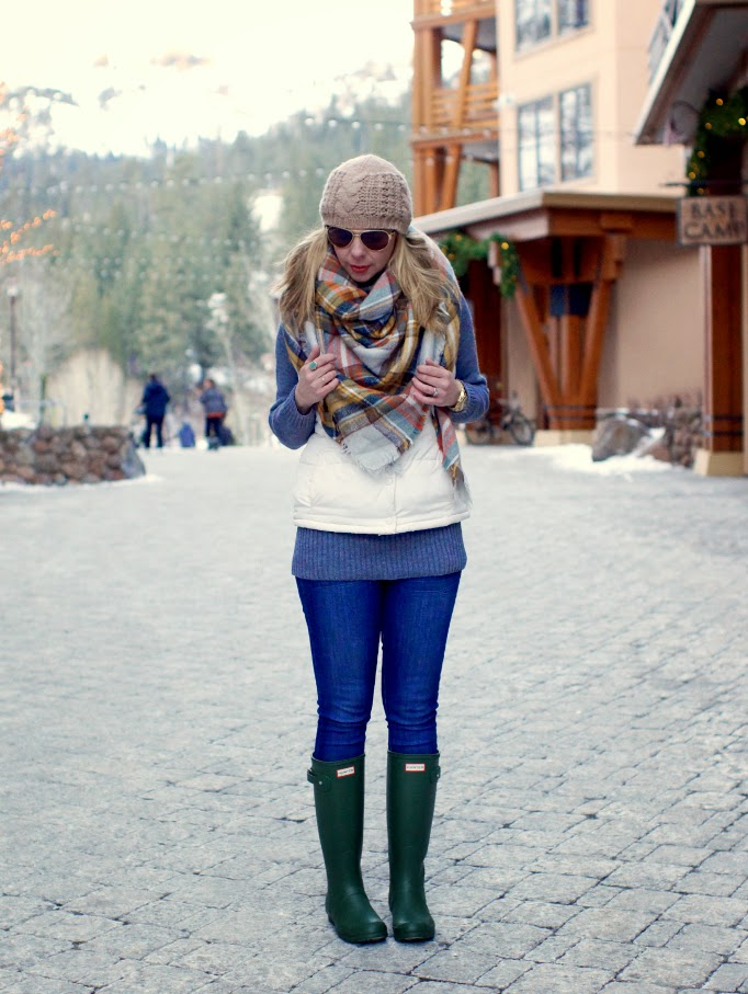 Outfit idea for Hunter Boots in the Winter