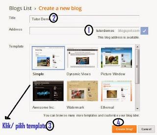 Cara Mudah Buat Web Instan Blogger 4