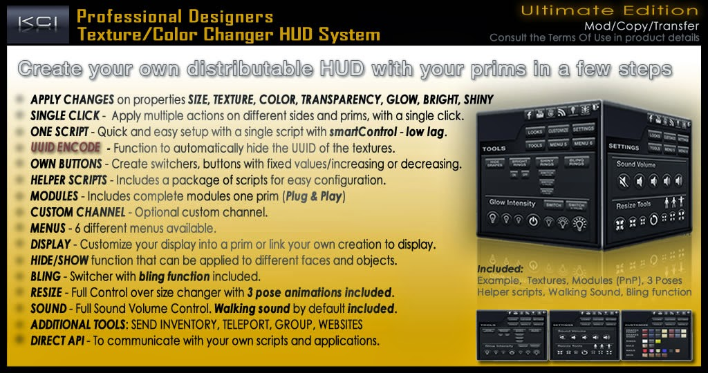 Professional Texture & Color Changer HUD System Ultimate Edition