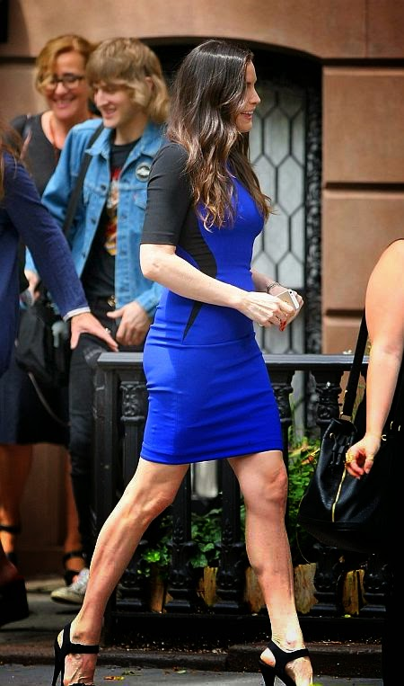 The 37-year-old, Liv Tyler is clearly out to show why she deserved such an accolade when she was spotted strolling around New York City and showing off her perfect pair of pins in a mini dress on Wednesday, July 16, 2014.