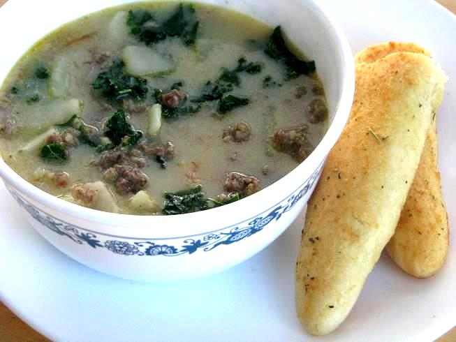 Olive Garden Zuppa Toscana Soup Homemade Breadsticks Gluesticks