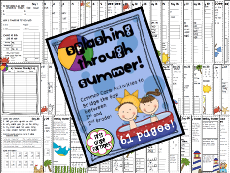 http://www.teacherspayteachers.com/Product/Splashing-Through-Summer-Common-Core-Packet-697370