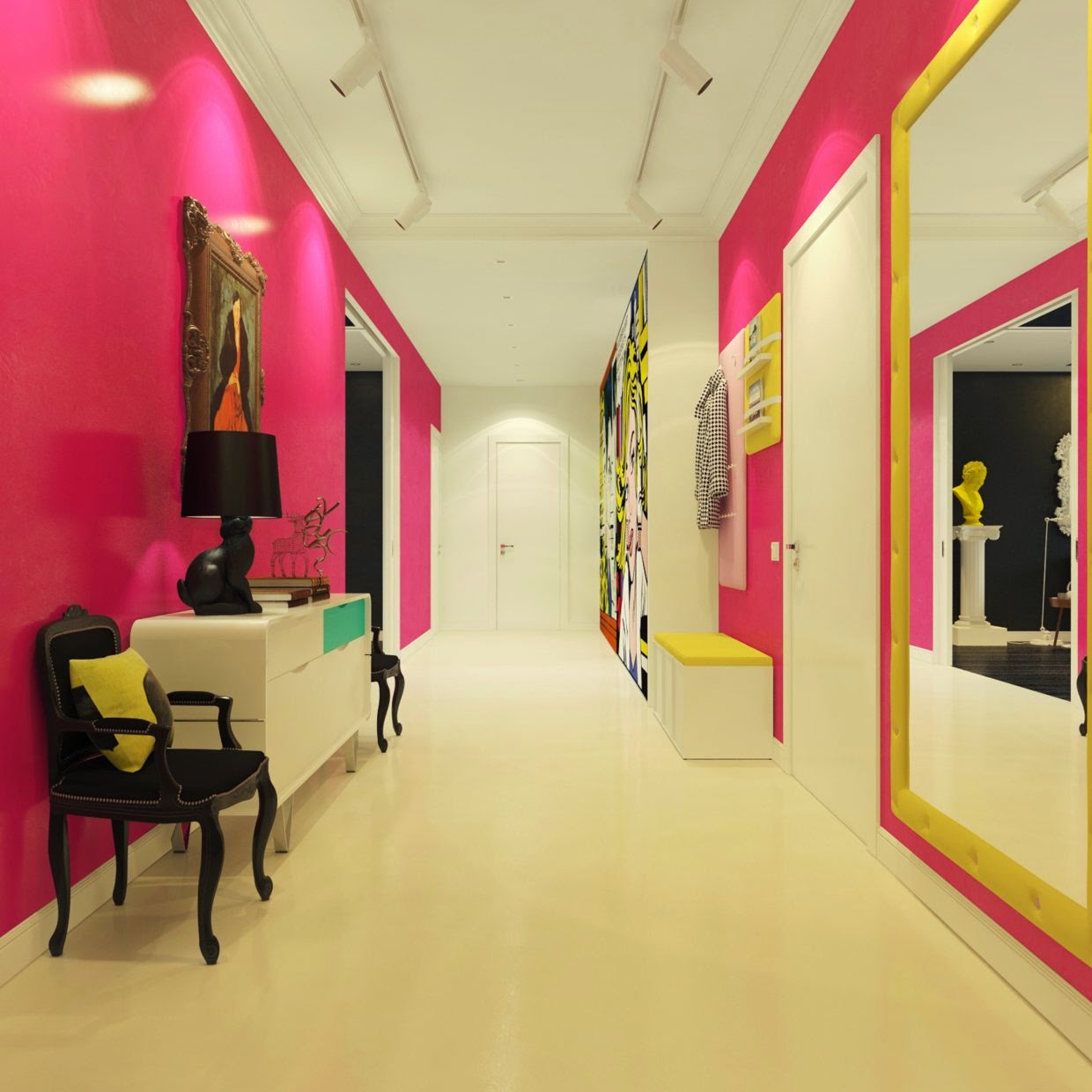 hallway Pop Art Style Apartment Decorating