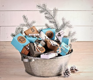 Calendrier de l'avent avec boîtes en carton, calendrier handmade, faire un calendrier de l'avent