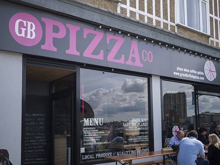 GB Pizza Co Margate and Exmouth Market, London