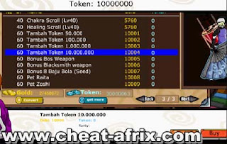 Cheat Token 10000000 Ninja Saga