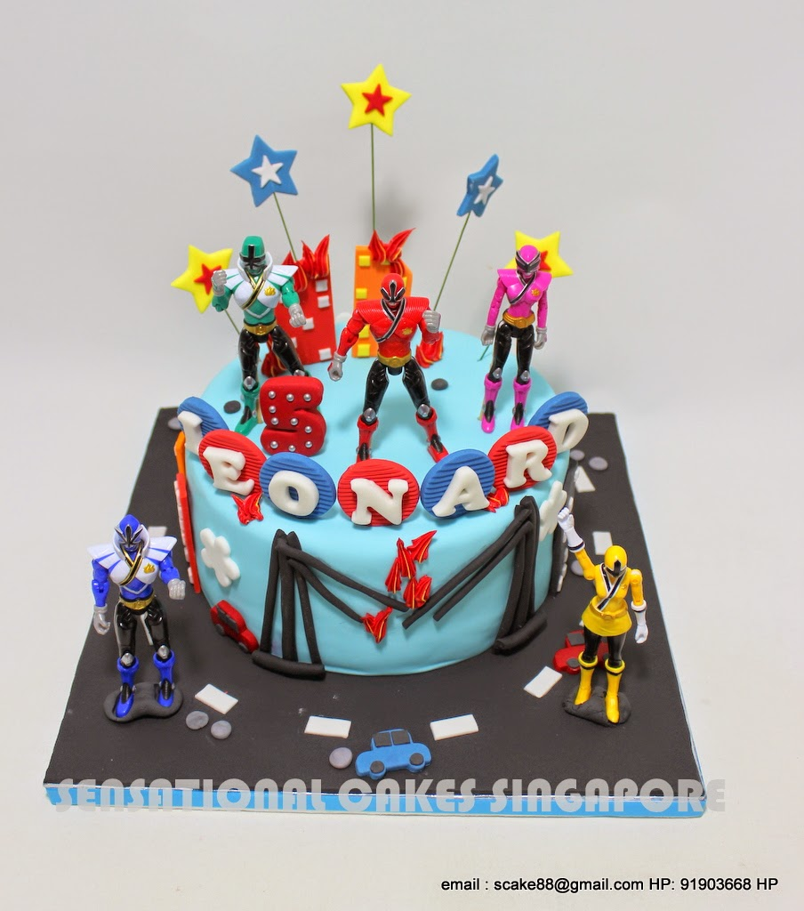 Power Ranger Birthday Cake Singapore