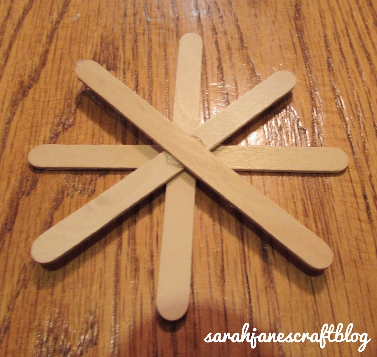 Sarah Jane 39 S Craft Blog Popsicle Stick Button Snowflakes
