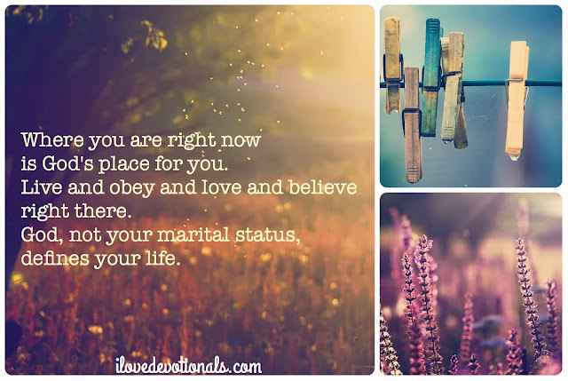 Relationship status Corinthians 7:17