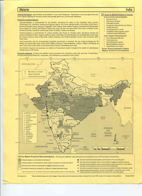 Malaria - India Map