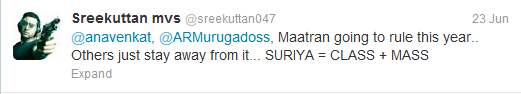 Maatran vs Thuppakki twitter