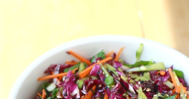 Garden Salad Coleslaw with Asian-style Dressing   Season with Spice