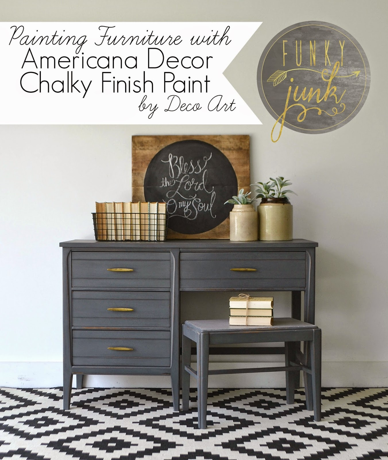 Painting Furniture with Deco Art Chalky Finish Paint. Funky Junk  Painting Furniture with Deco Art Chalky Finish Paint