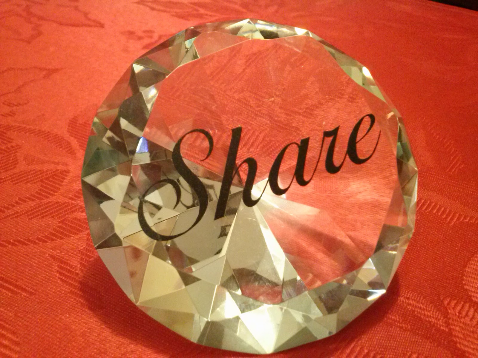 personalized diamond shaped paperweight