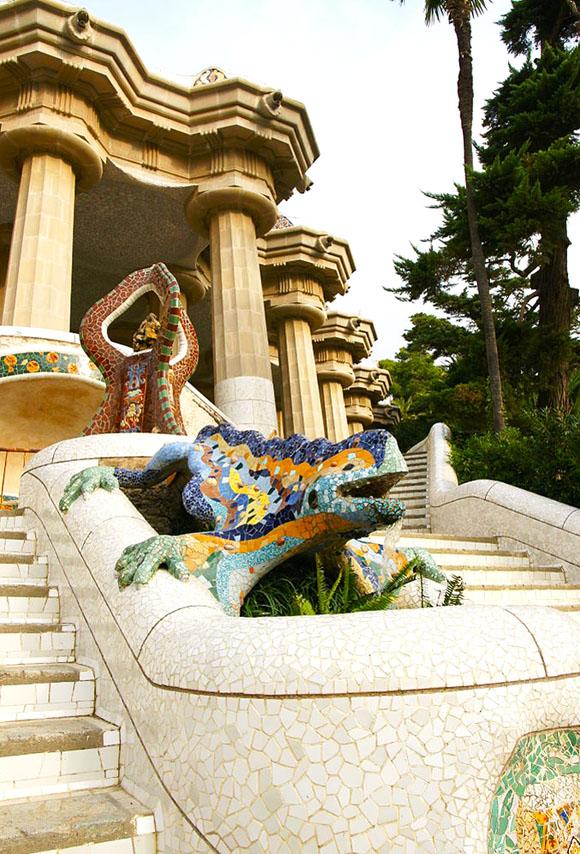 O lagarto-dragão no Parc Güell