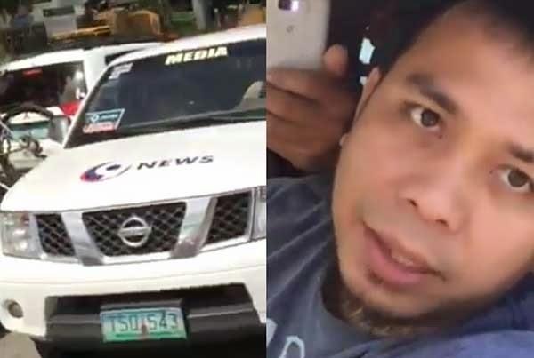 news crew vs motorist
