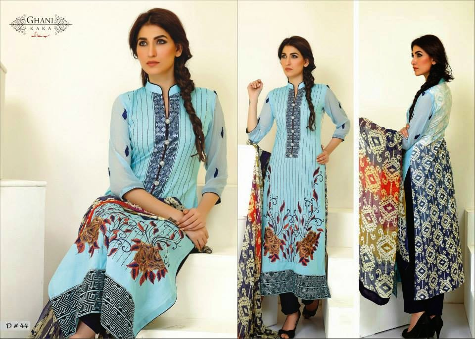 Casual long kurtis summer wear lawn collection 2014 for young girls by