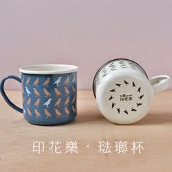 印花樂琺瑯杯
