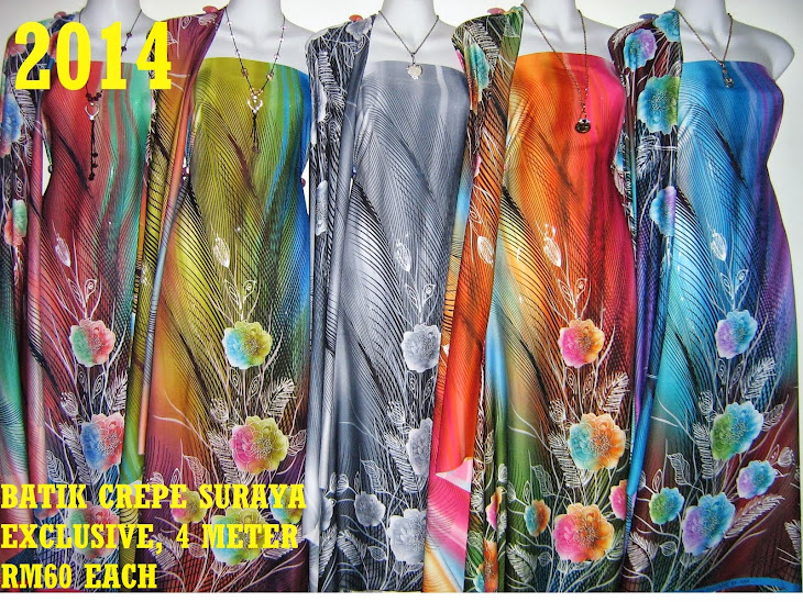 BS 2014: BATIK CREPE SURAYA EXCLUSIVE, 4 METER, 5 COLORS