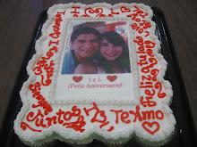 Pastel de cupcakes de aniversario
