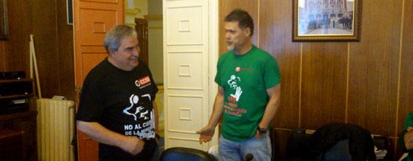 Los alcaldes mineros de PSOE e IU se encierran en defensa del carbón
